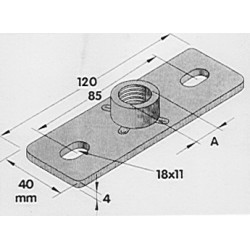 Grundplatte Rohrschelle