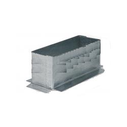 Anschlussplatte Stahl verzinkt Flachkanal