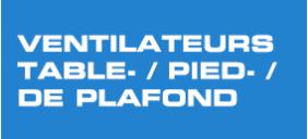 Ventilateurs table-/pied-/ de plafond